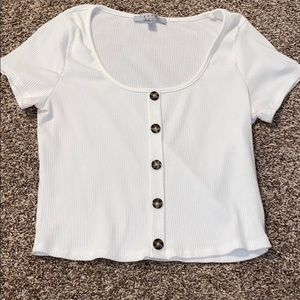 Cropped Button Up Tee